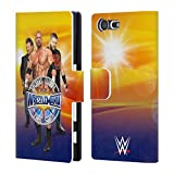 Official WWE Chris Jericho, Triple H, Owens Wrestlemania 33 Superstars Leather Book Wallet Case Cover For Sony Xperia Z5 / Z5 Dual