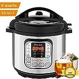 MeyKey 10-in-1 Intelligent Pressure Cooker, Slow Cooker, Rice Cooker, Steamer, Fryer, Yogurt Maker and Warmer; 6 Qt, 1000W