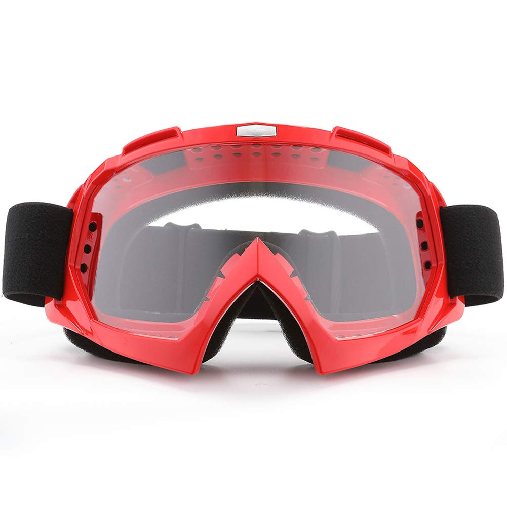 SPOSUNE Motorcycle Goggles, ATV Dirt Bike Off Road Racing MX Riding Goggle Anti-Scratch Dustproof Bendable UV400 Eyewear Padded Soft Thick Foam,Adjustable Strap Adults' Cycling Motocross by SPOSUNE