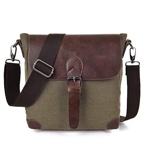 Männer Und Frauen Vintage-Leinwand Messenger Ipad Schulter Tote Schule Sport Tasche,B-23cm*14cm*25cm
