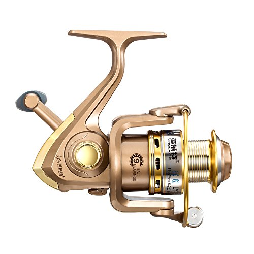 Boduo Spinning Fishing Reel Metal Spool 9bb for Freshwater Saltwater 2000 Series