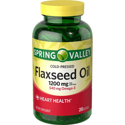 Spring Valley – Flaxseed Oil 1200 mg, 200 Softgels For Sale