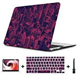 MacBook Air Hard Case Colorful Fashion Art American City Plastic Hard Shell Compatible Mac Air 11' Pro 13' 15' MacBook Air Case Protection for MacBook 2016-2019 Version
