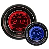 "Water Temperature Gauge- Electrical Red/blue EVO Series 52mm (2 1/16"")"