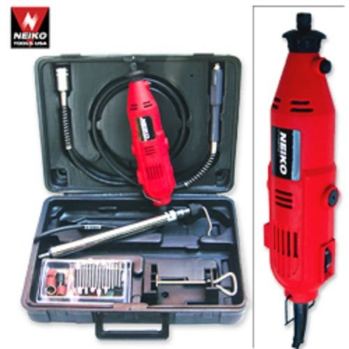 Variable Speed Rotary Tool Kit with Case Flexshaft 40pc Acce