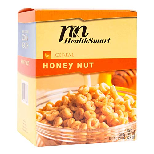 HealthSmart - High Protein Diet Cereal - Honey Nut - 15g Protein - Low Calorie - Low Carb - Low Fat - Gluten Free (5/Box) (Best Nuts For Keto Diet)