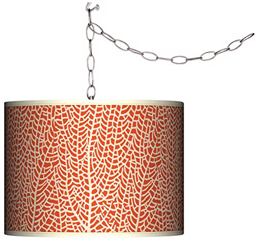 Stacy Garcia Seafan Coral Giclee Plug-in Swag (Spider Ceiling Drapes)