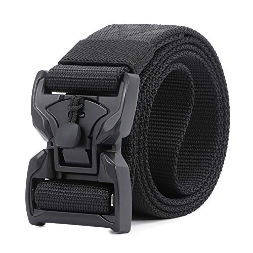 Magnetic Tactical Belt for Men, Military Style Nylon Webbing Belt Heavy Duty Carry Tool Belt with Quick Release Buckle 1.5 Inch Width