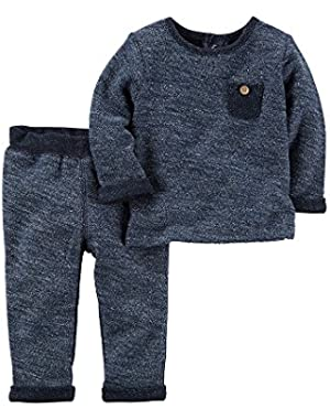 Carter's Baby Boys' 2-Piece French Terry Top And Pants Set
