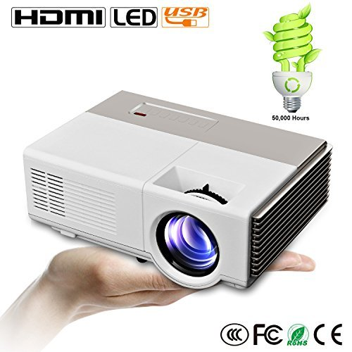 Caiwei portable projector mini full hd 1080p led home for Mini outdoor projector