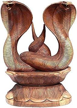 50cm Kobra Schlange Snake Cobra Phyton Schlangen Holz Unikat Buddha Fair Trade