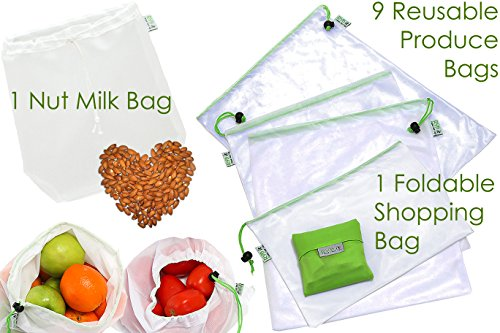 Green Bags For Veggies And Fruit - 8