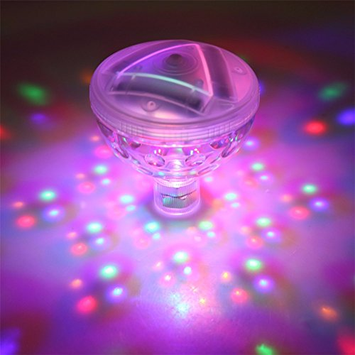 Waterproof Floating LED Lamp, [4 LED] Awesome Light Show, Perfect for Swimming Pool, Bathtub, Jacuzzi, and More! Great Water (Swimming And Jacuzzis)