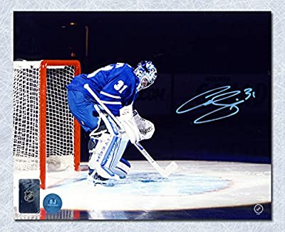 Curtis Joseph Toronto Maple Leafs Autographed Spotlight Intro 8x10 Photo