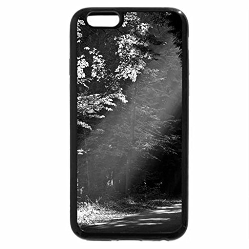 iPhone 6S Case, iPhone 6 Case (Black & White) - Autumn Road Light