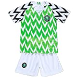 Nigeria Jersey 2018 World Cup with Soccer Jersey Football Shorts Set for Youth Children Medium Size