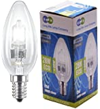 5 Long Life Lamp Company Eco Halogen Candles 28w Equivalent 40w Dimmable Halogen Candles Energy Saving Candle light bulbs E14 Edison SES