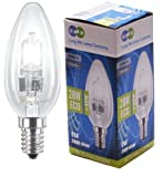 4 x Eco Halogen Candles 28w Equivalent 40w Halogen Candles Energy Saving Candle light bulbs E14 Small Edison SES