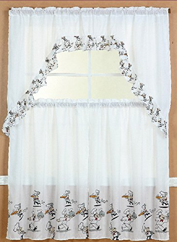 Kitchen Curtain Tiers And Valance Set Curtains Decor For Windows 36