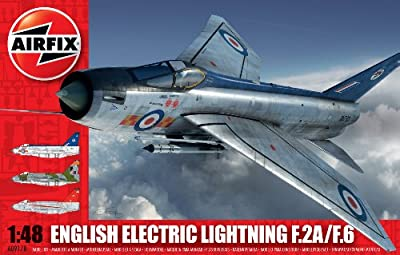 Airfix A09178 English Electric Lightning F2A/F6 Model Building Kit, 1:48 Scale