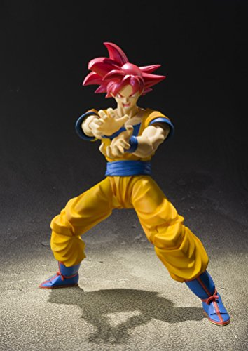 "51J7%2Bo85tML - Bandai Tamashii Nations S.H. Figuarts Super Saiyan God Son Goku ""Dragon Ball Super""  Action Figure"