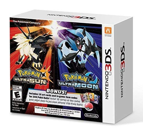 Pokemon Ultra Sun & Pokemon Ultra Moon Veteran Trainer's Dual Pack - Nintendo 3DS (Pokemon Ultra Sun And Ultra Moon New Pokemon)