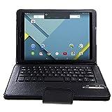 IVSO HTC Nexus 9 8.9-inch Bluetooth Keyboard Portfolio Case - DETACHABLE Bluetooth Keyboard Stand Case / Cover for HTC Nexus 9 8.9-inch Tablet(Black)