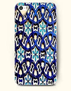 OOFIT Apple iPhone 4 4S Case Moroccan Pattern ( Blue Circles in Circles )