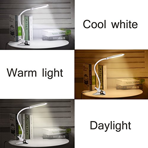 Dimmable Led Desk Lamp Kedsum Rechargeable Clip On Light