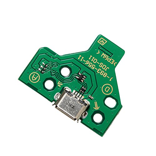 Timorn 12 Pin USB Charge Port Socket Board JDS-011 for Playstation 4 PS4 Controller (1pc Charger Port)