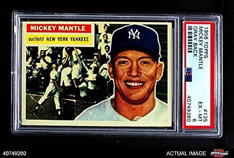 Amazoncom 1956 Topps 135 Gry Mickey Mantle New York
