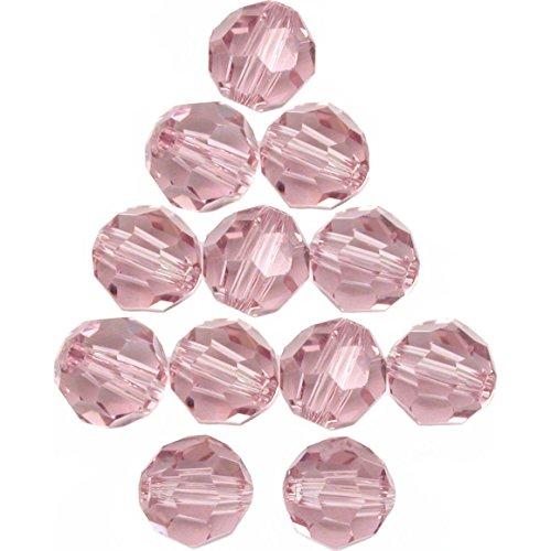 Earrings Light Amethyst Swarovski (12 Lt Amethyst Round Swarovski Crystal Beads 5000 6mm)