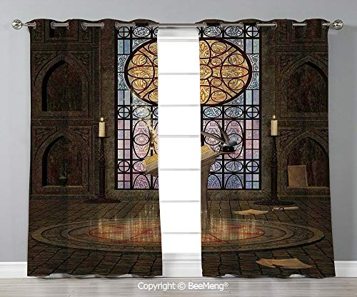 BeeMeng Design Printed Curtain Set of 2 Panels(120