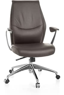 AMSTYLE Office Chair Verona Black leather desk chair X XL 120 kg