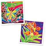 Malaysian Batik Organic Colors Painting 2-in-1 Kit (Butterfly, Orchid Flower) - Art Craft Painting Activity Kit Set for Adults and Kids
