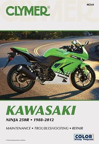 kawasaki ninja 250r 1988 2012 clymer motorcycle repair penton rh amazon com Kawasaki Ninja 250 2010 kawasaki ninja 250r service manual