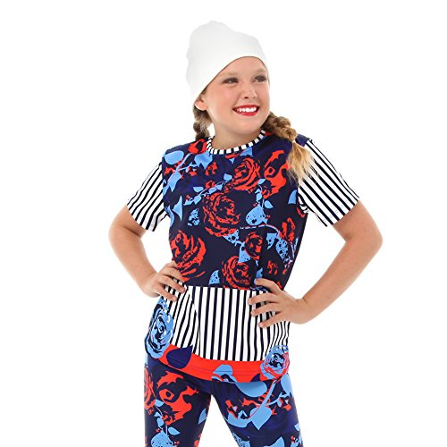 Hip Hop Dance Costumes For Girls (Alexandra Collection Youth Urban Vibe Crewneck Hip Hop Dance Costume Navy 6-8)