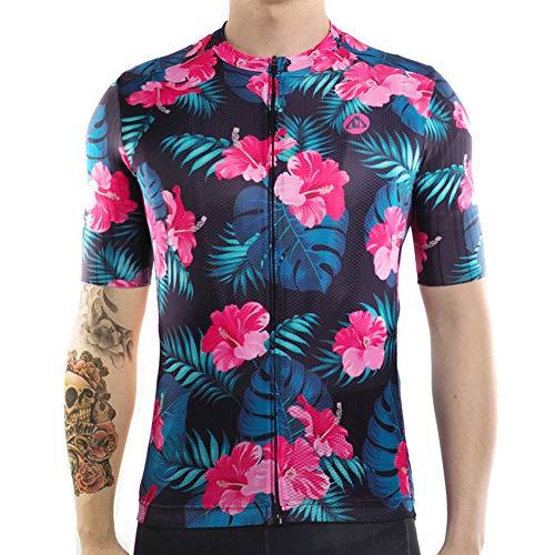 Racmmer Mens AERO Short Sleeve MTB Cycling Jersey PRO FIT Bike Shirt Cycling Clothing