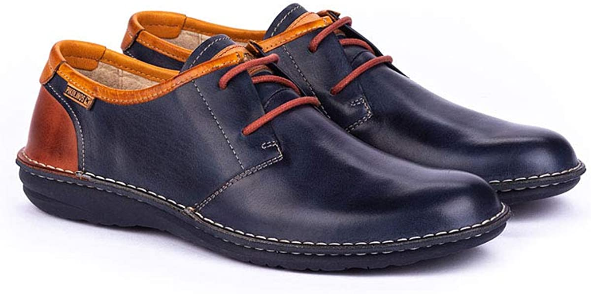 Pikolinos Chaussures Plates en Cuir Santiago M8M Blue