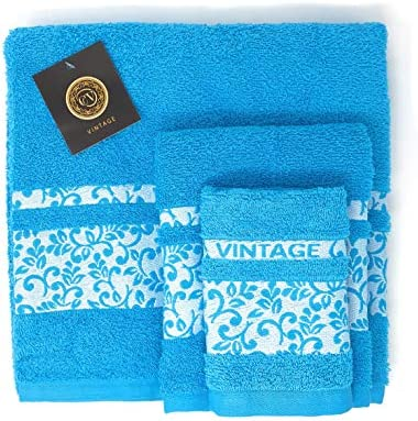 Cabello Textil Hogar - Juego de Toallas 100% Algodón de 450 Gr/m2 ...