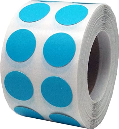 Color coding labels teal round circle dots for organizing inventory 1 2 inch 1000 total