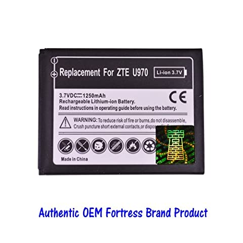 Replacement Battery for ZTE Savvy Z750c Z750 750c 750 Awe N800 800 (Straight Talk/net10) Cellphone Fortress Brand (Phones Are Displayed for Reference (Zte Savvy Straight Talk Batteries)