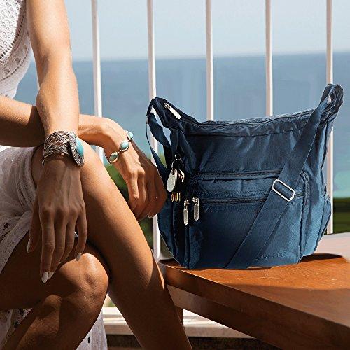 Handbag Multi Everyday Travel Pocket Hobo 9020 Lightweight Bag Shoulder Navy Suvelle Crossbody qTgFznWq