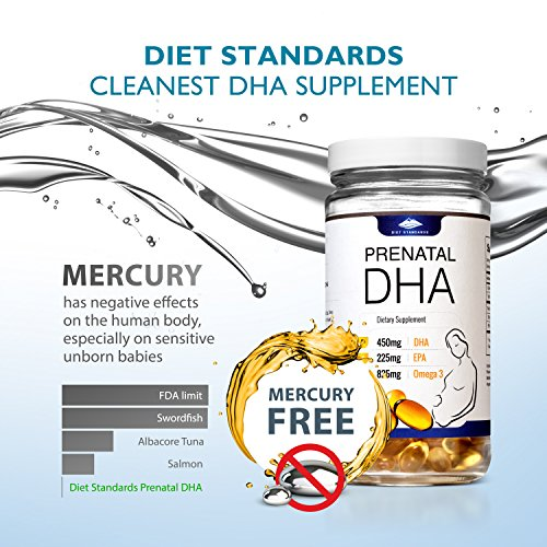 Diet Standards Prenatal DHA - Algae-Based = 100% Vegan Pills - Best Omega 3 DHA Supplement to Pair with Prenatal Vitamins for a Healthy Pregnancy - No Mercury: 3rd Party Lab Tested! by Diet Standards (Image #3)