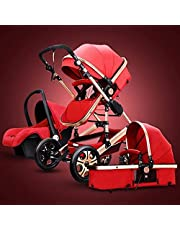 Baby Doll Strollers for Girls 3 in 1 Foldable Baby Stroller Travel System with Car Seat Easy Fold Stroller Footmuff Blanket Rain Cover Backpack Mosquito Net Cooling Pad
