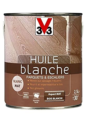 V33 - Huile Blanche Parquet 2L5: Amazon.fr: Bricolage