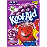 Kool-Aid Grape Unsweetened Soft Drink Mix, 0.14-Ounce Envelopes (Pack of 48)