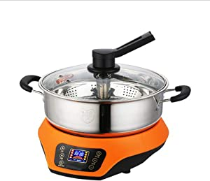 Automatic Lifting Electric hot Pot, Electric Rice Cooker Plug-in Split Pot, 304 Stainless Steel de-Sugar Steamer