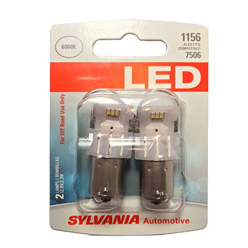 - SYLVANIA - 1156 LED Amber Mini Bulb - Bright LED Bulb, Ideal for Park and Turn Lights (Contains 2 Bulbs)