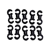 WinnerEco 10pcs Housing Hose Guide for Brake Cable/derailleur Hub Bike Shift Line S-clips Clamps for MTB Bike Road Bicycle